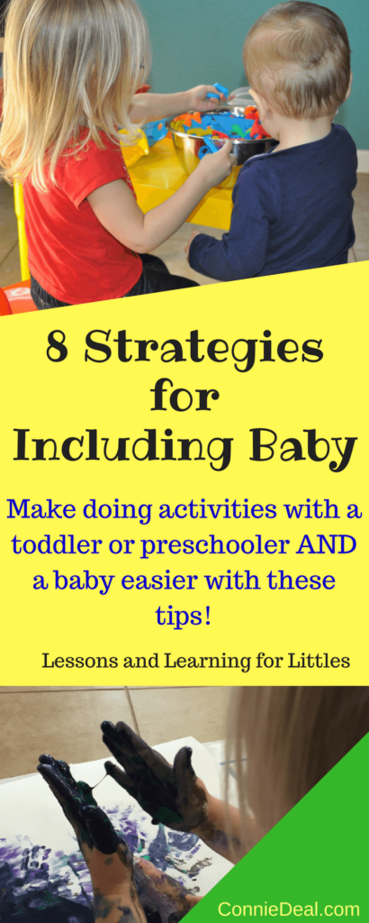 How do I do activities with my toddler AND my baby? It's hard to have two little kids doing the same activity or finding something they both can do at the same time. How do you do projects and activities with a toddler and keep your baby safe and happy? Juggling 2u2 can be a balancing act, but it's doable! Preschool activities are fun and educational for 3-4 year olds, and they can be helpful for baby too!