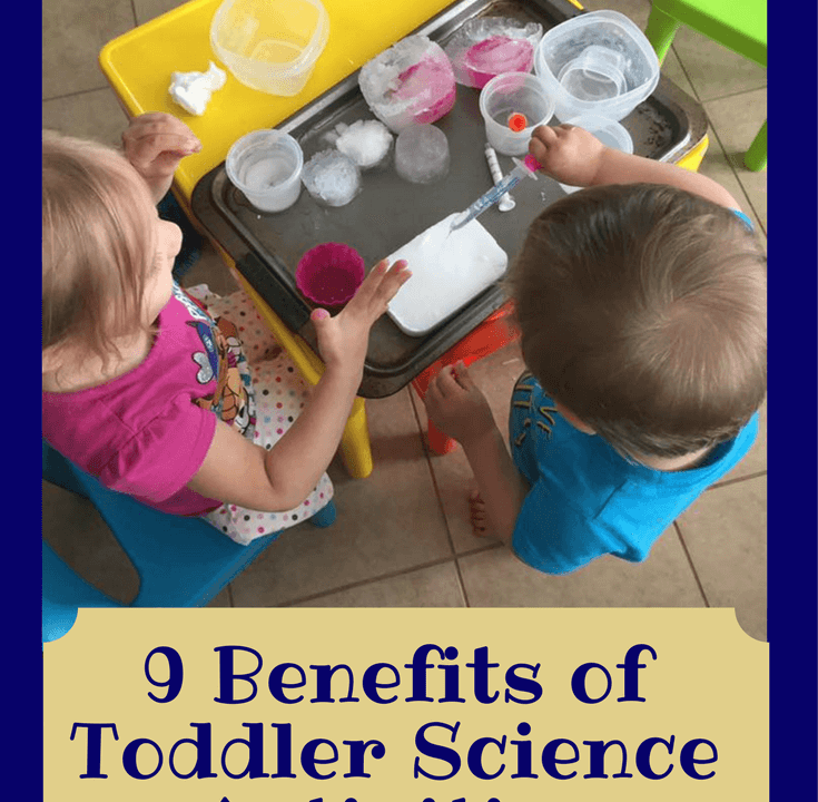 Have you thought about doing science with your toddler? It turns out there are MANY reasons why you should do science as one of your regular #toddleractivities. Click through to find out more and how you can easily do #toddlerstem at home with your toddler or preschooler. #stem #preschoolstem #stemactivities
