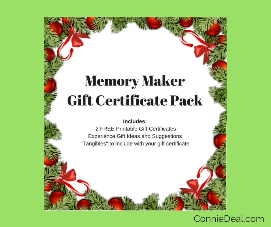 Deciding what to get children for Christmas can be a huge challenge. Make it easy with the Memory Maker Gift Certificate. It's FREE and includes 2 printable gift certificates, gift ideas, and more from Lessons and Learning for Littlles. #holiday2017 #toddlergift #minimalist