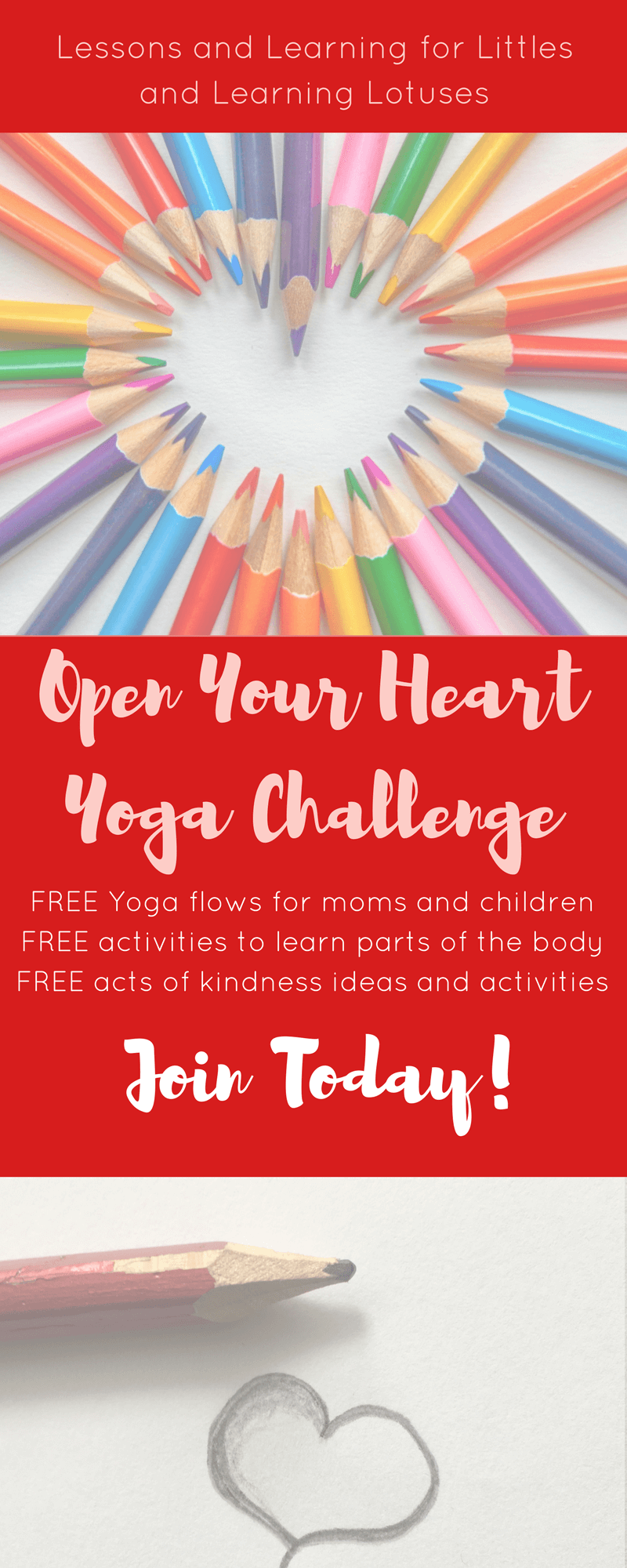 Love, appreciation, mindfulness, and yoga, oh my! Learn how to teach your child (including #toddlers and #preschoolers) how to do yoga, to love their bodies and be more appreciative of others! Click through to learn more about this FREE challenge and for the free resources. Includes activities for learning about the #humanbody. #teachingtoddlers #yoga #kidsyoga