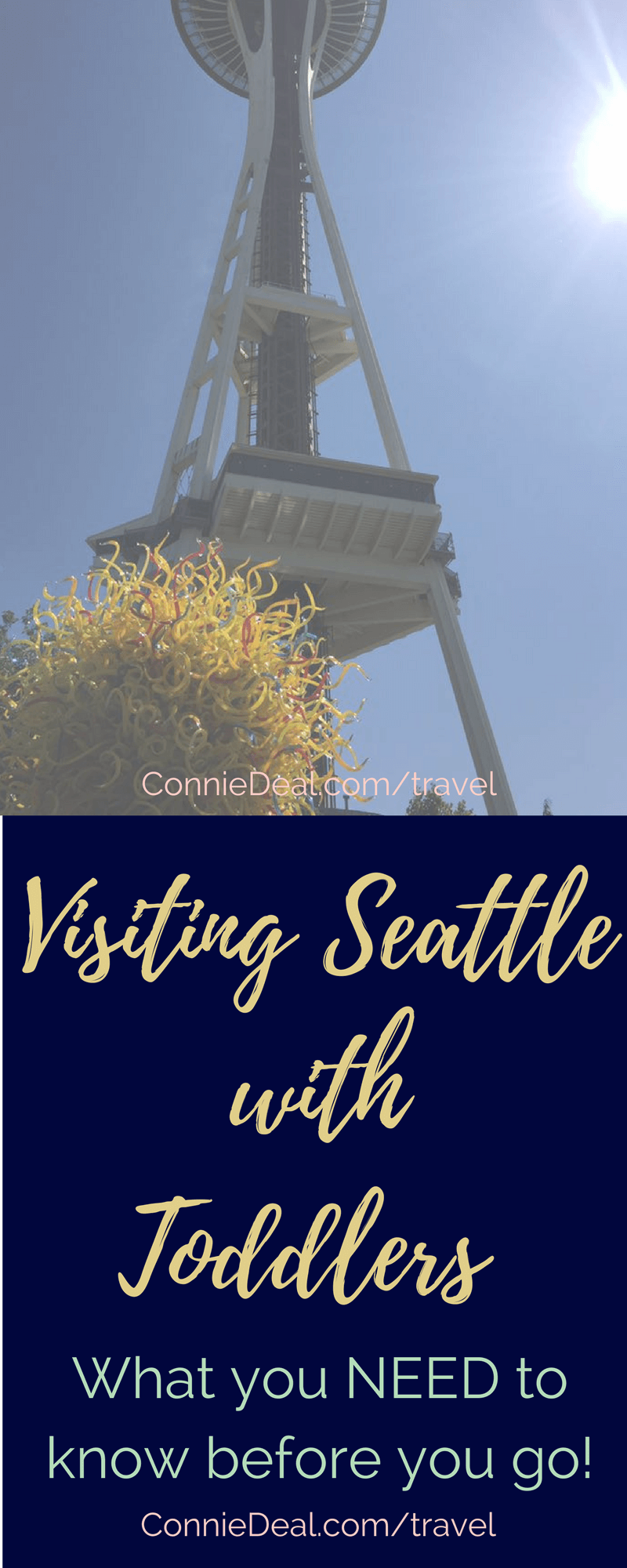 Thinking of visiting Seattle with kids? Is it doable? What are your best options? Find out in this post from a traveling mama with two toddlers! #Seattle #Seattlewithkids #sightseeing #travel #familyvacation #SpaceNeedle
