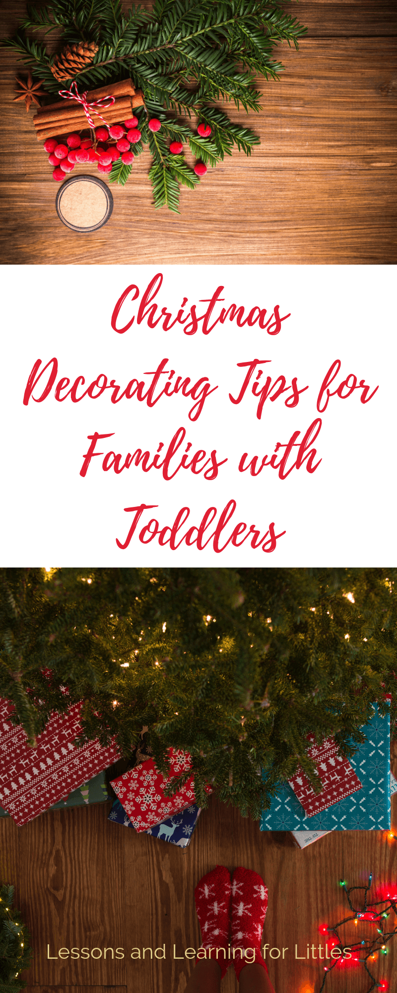 Have a picture perfect house AND toddlers! Click through to learn 4 easy ways to keep the Christmas tree safe AND how to let your #toddler or #preschooler help #decorate the house without losing your mind. #Christmas #Christmastime #Holidays #ChristmasTree